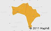 Political Map of Huaide, single color outside