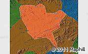 Political Map of Huinan, darken