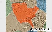 Political Map of Huinan, semi-desaturated