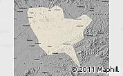 Shaded Relief Map of Huinan, darken, desaturated