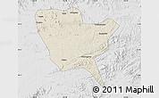 Shaded Relief Map of Huinan, lighten, desaturated
