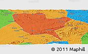 Political Panoramic Map of Huinan