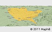 Savanna Style Panoramic Map of Huinan