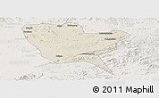 Shaded Relief Panoramic Map of Huinan, lighten
