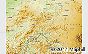 Physical Map of Hunjiang Shi