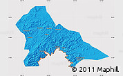 Political Map of Hunjiang Shi, cropped outside