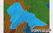 Political Map of Hunjiang Shi, darken