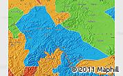 Political Map of Hunjiang Shi