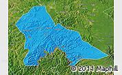 Political Map of Hunjiang Shi, satellite outside