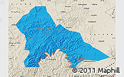Political Map of Hunjiang Shi, shaded relief outside