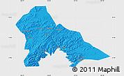Political Map of Hunjiang Shi, single color outside