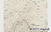 Shaded Relief Map of Hunjiang Shi