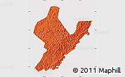 Political Map of Ji An, cropped outside