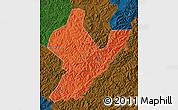 Political Map of Ji An, darken