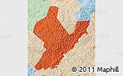 Political Map of Ji An, lighten