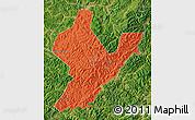Political Map of Ji An, satellite outside