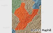 Political Map of Ji An, semi-desaturated