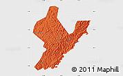Political Map of Ji An, single color outside