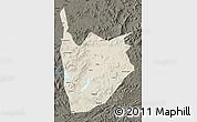 Shaded Relief Map of Jiaohe, darken