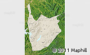 Shaded Relief Map of Jiaohe, satellite outside
