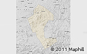 Shaded Relief Map of Jingyu, desaturated