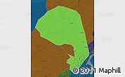 Political Map of Lishu, darken