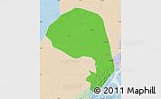 Political Map of Lishu, lighten
