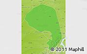 Political Map of Lishu, physical outside