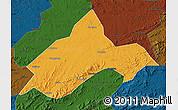 Political Map of Liuhe, darken
