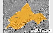 Political Map of Liuhe, desaturated