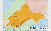 Political Map of Liuhe, lighten