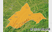 Political Map of Liuhe, satellite outside