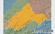 Political Map of Liuhe, semi-desaturated
