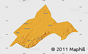 Political Map of Liuhe, single color outside