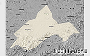 Shaded Relief Map of Liuhe, darken, desaturated