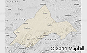 Shaded Relief Map of Liuhe, desaturated