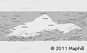 Gray Panoramic Map of Liuhe