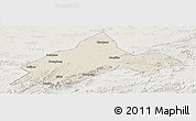 Shaded Relief Panoramic Map of Liuhe, lighten