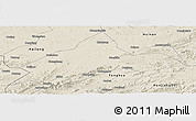 Shaded Relief Panoramic Map of Liuhe