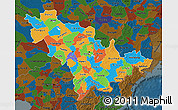 Political Map of Jilin, darken