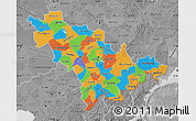 Political Map of Jilin, desaturated