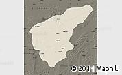 Shaded Relief Map of Nong An, darken