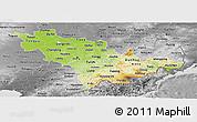 Physical Panoramic Map of Jilin, desaturated