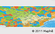 Physical Panoramic Map of Jilin, political outside