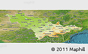 Physical Panoramic Map of Jilin, satellite outside