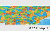 Political Panoramic Map of Jilin
