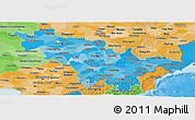 Political Shades Panoramic Map of Jilin
