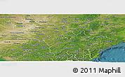 Satellite Panoramic Map of Jilin