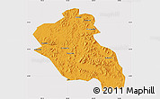 Political Map of Panshi, cropped outside