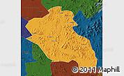 Political Map of Panshi, darken